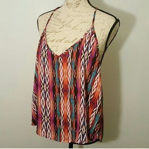 Tribal colorful print blouse L Forever 21